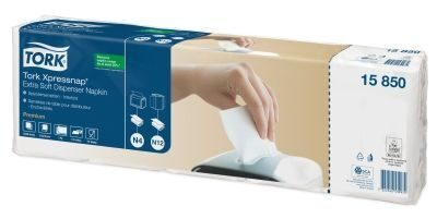Tork Xpressnap Extra Soft White Dispenser Napkin, белый (5 пачек в спайке)